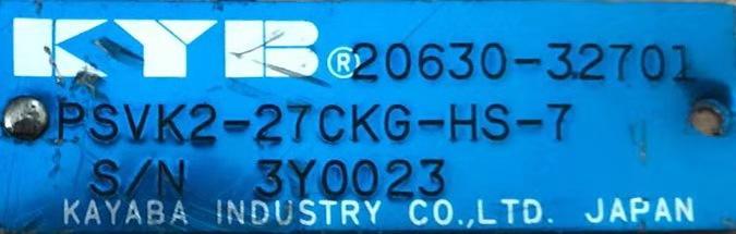 KYB馬達 PSVK2-27CKG-HS-7/20630-32701 1