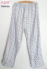 men's woven cotton large size pyjama pants