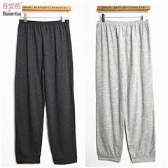 men's jersey fabric pajama pants long sleep pants