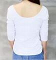 women's stretchy fabric round neck T shirt 2