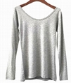 women's stretchy fabric round neck T shirt 3