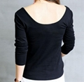 women's stretchy fabric round neck T shirt 4