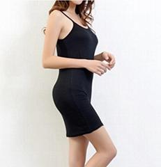 women's backed Y long vest dress
