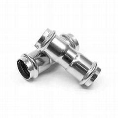 304不鏽鋼等徑直接頭雙卡壓管件薄壁不鏽鋼水管專用配件批發