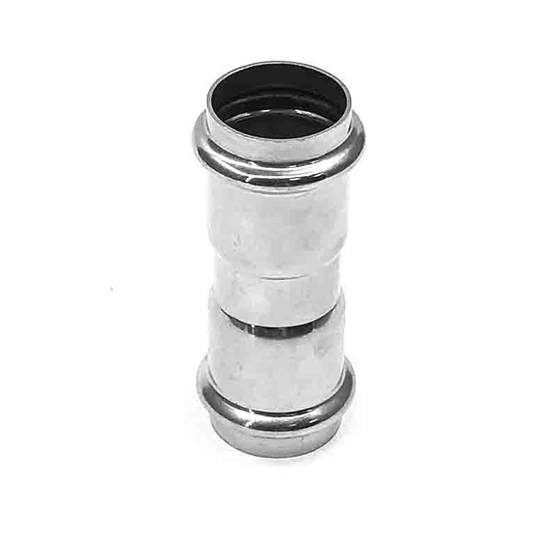 304不锈钢等径直接头双卡压管件薄壁不锈钢水管专用配件批发 2