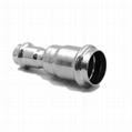不锈钢卫生级异径直接头薄壁不锈钢管配件双卡压式安装简易 1