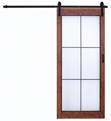 Tempered Glass Rustic Sliding Barn doors