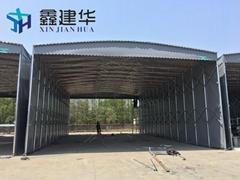 專業定製雨棚戶外遮陽篷倉庫停車棚
