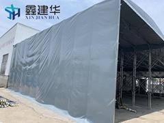 移動推拉棚伸縮式雨篷收縮戶外大棚折疊倉庫帳篷折疊燒烤大篷