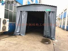 大型倉庫推拉棚停車蓬遮陽篷夜宵大排檔燒烤帳篷活動伸縮式雨篷