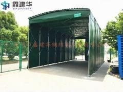 活動雨蓬推拉雨棚活動帳篷大型倉儲篷臨時篷移動雨蓬