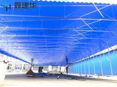 移動推拉篷常平活動蓬倉庫大棚電動推拉雨蓬新品活動帳篷