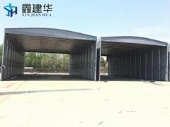 户外大型仓库篷推拉雨棚子移动推拉棚活动蓬大排档折叠式伸缩蓬