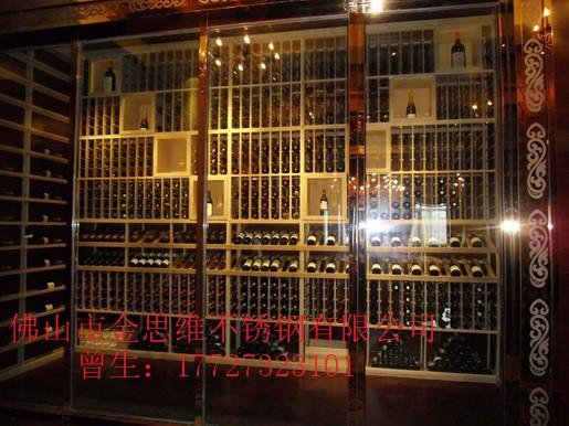 豪华玫瑰金不锈钢红酒恒温酒柜 2