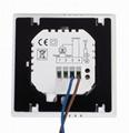 Tuya WIFI mirror screen heating thermostat for under floor heating 3