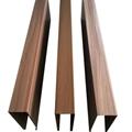 wavy wood grain rectangular aluminum tubing
