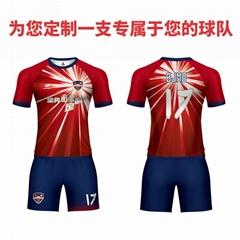 廣州洲卡足球服套裝定製優惠促銷