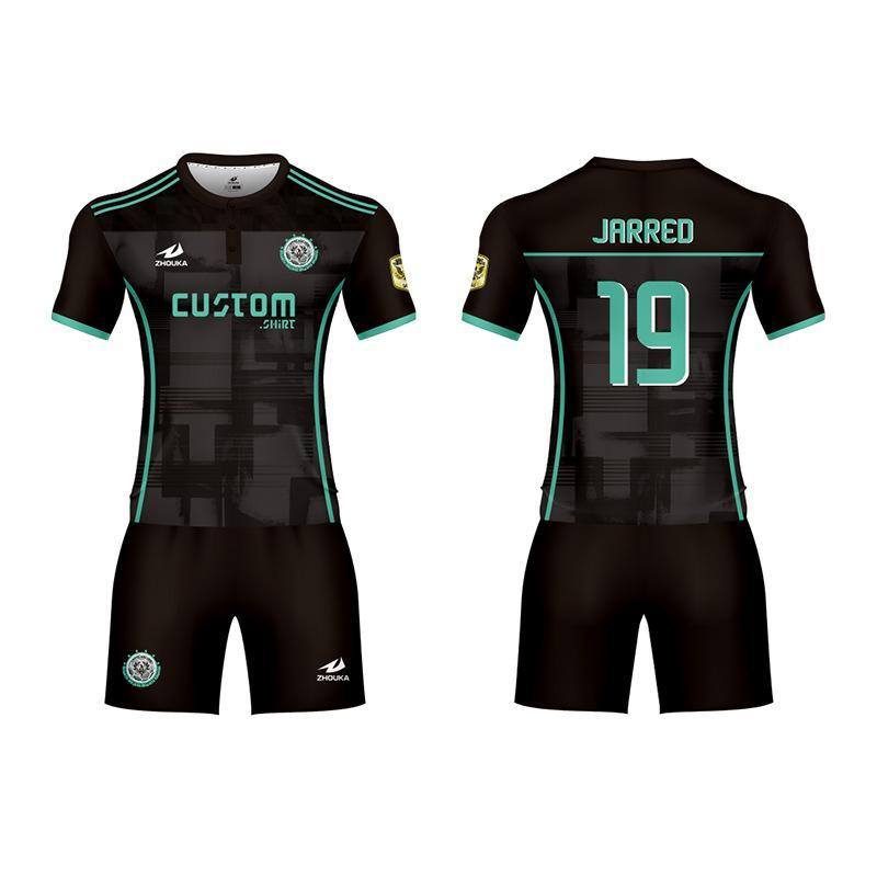 廣州洲卡足球運動服diy定製量大從優 3