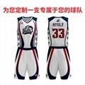 廣州洲卡男性籃球服diy定製