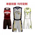 廣州洲卡短袖籃球服diy定製