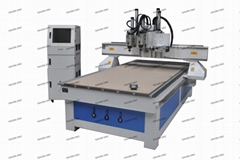 3 Head Tools Changer CNC Router For Furniture Making