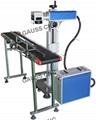 With Feeding Table flying fiber laser marking machine