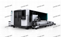 Rotary 1530 4kw Fiber Laser Machine For Metal Cutting