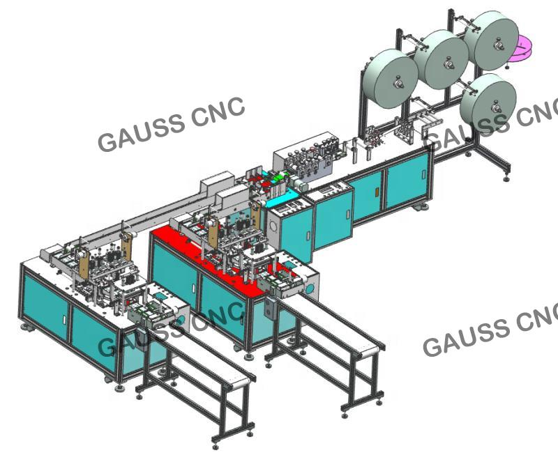 Fully Automatic Disposable Face Mask Making Machine 3