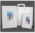 PU leather hardcover wedding albums cover