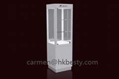 Elegant Jewelry Tower Display Case with LED Light