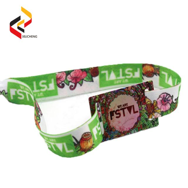 NFC NTAG213 Polyester Fabric Wristbands