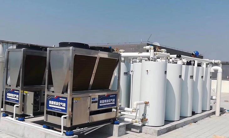 青岛地区空气源热泵热水工程 1