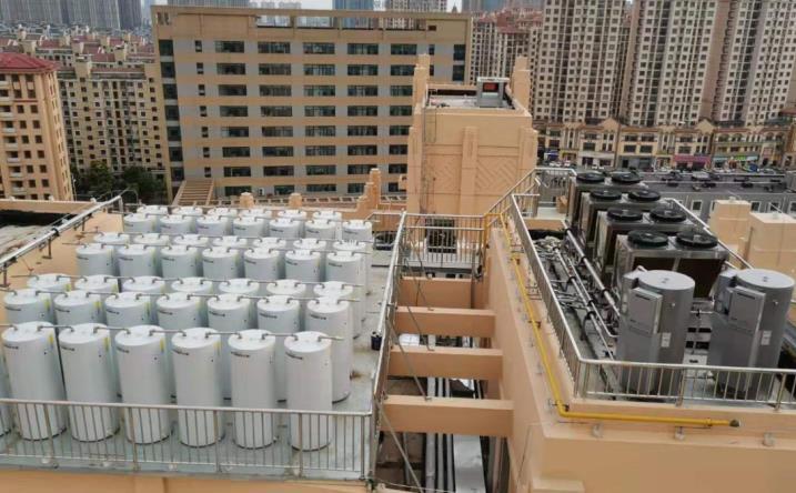 青岛地区空气源热泵热水工程 2