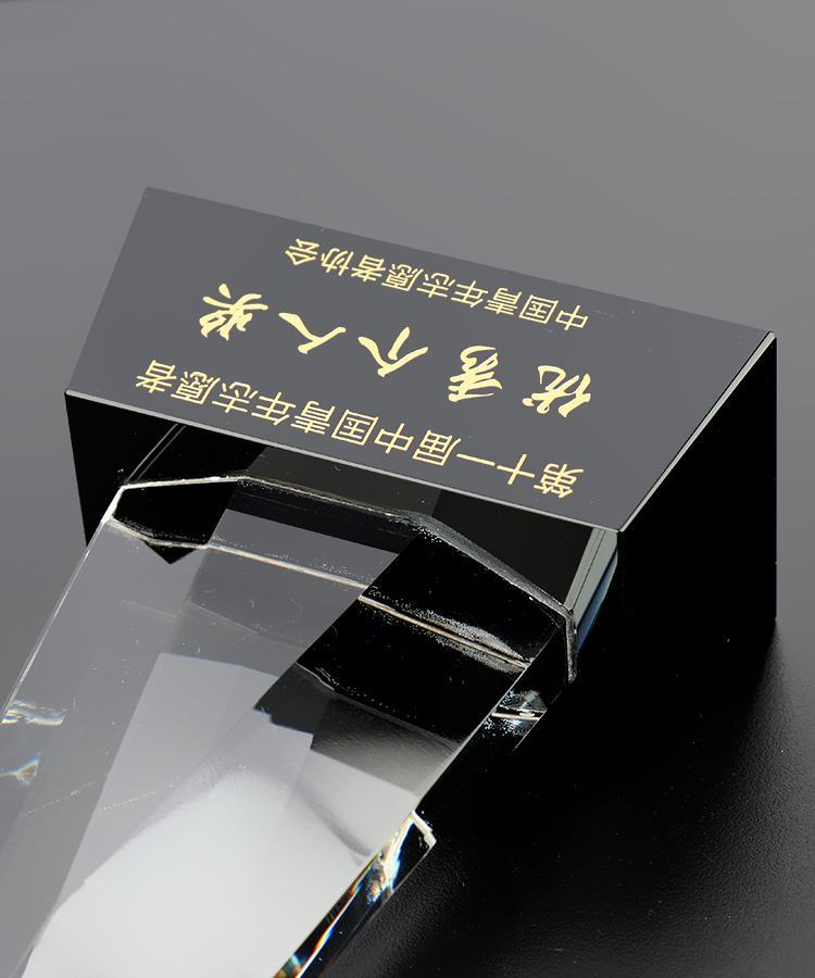 大愛無私水晶獎杯 定製抗疫嘉獎水晶獎杯獎牌 4