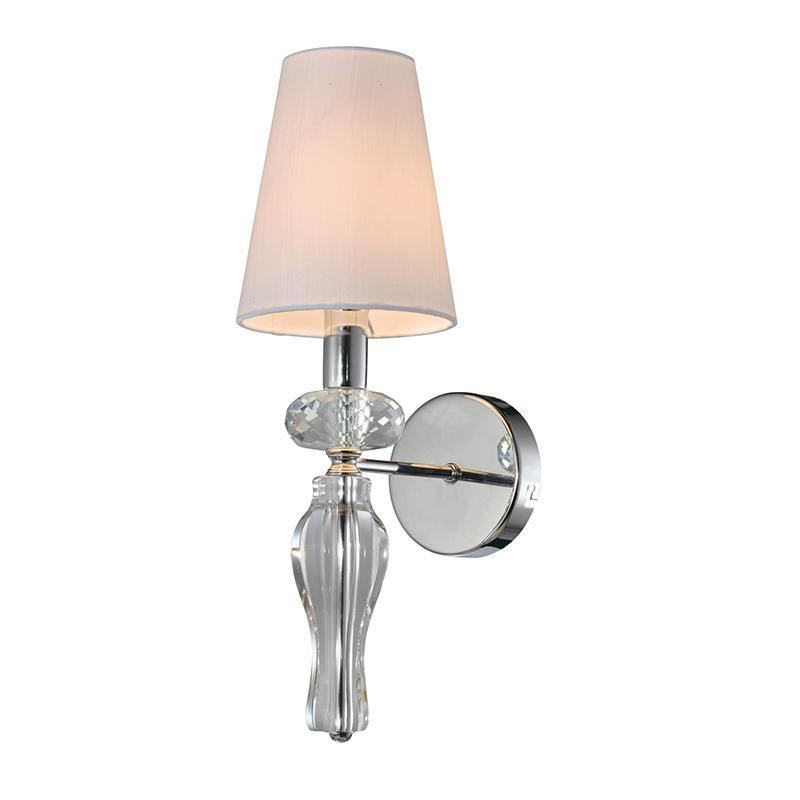 1 Light Clear k9 Crystal Wall Lamp NC1241T-1CR 1