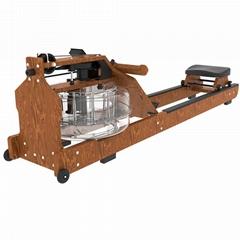 亿迈实木划船机 水阻划船器 健身房商用木头划桨机室内健身器材