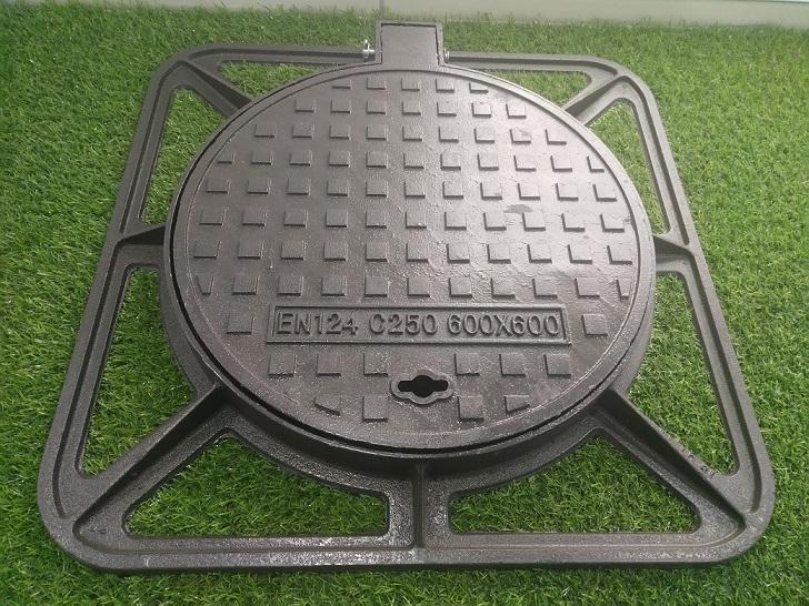 Municipal Manhole Cover with Frame En124 Class C250 4