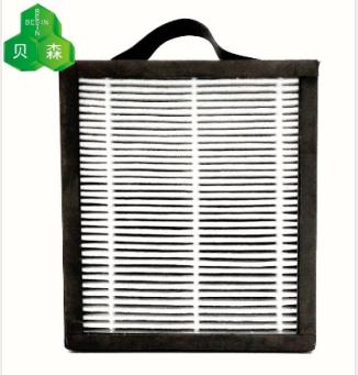 蘇州貝森PM2.5活性錳夾炭布全密封過濾網 1