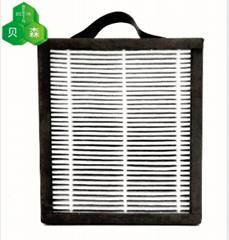 蘇州貝森PM2.5活性錳夾炭布全密封過濾網