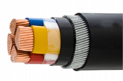 Hot Sale Top Quality YJV 5 cores high quality pe pvc insulated copper cable wire