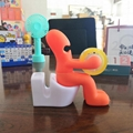 creative toilet tape seat, tape dispenser,Office stationery 3