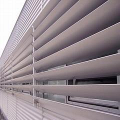 China OEM aluminium sun shade louver system supplier