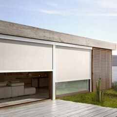Electric Motorized Zip Track Outdoor Roller Blind Solar Shade