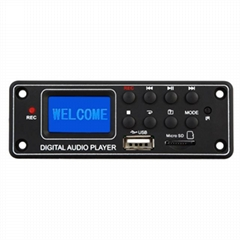 MP3 Player Decoder Board Bluetooth MP3 Module Dot Matrix LCD TPM-006c