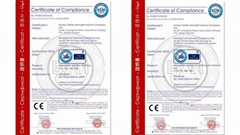 European standard EN149 CE certificate for masks