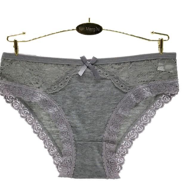 外貿跨境蕾絲女士內褲 e速賣通女式三角褲全棉蕾絲短褲批發 2