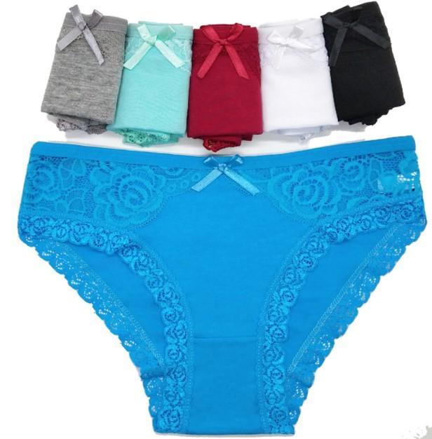 外貿跨境蕾絲女士內褲 e速賣通女式三角褲全棉蕾絲短褲批發 3