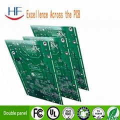 fr-4 1.6MM double hasl green print circuit board