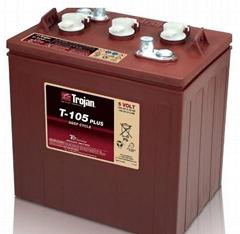 美国TROJAN邱健蓄电池T-105