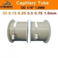 "PEEK Pipe Capillary Tube 1/16"" 1.6mm Grade 450G 100% Pure Polyetheretherketone"